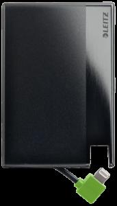 Leitz Complete Powerbank mit Lightning-Kabel Kreditkartenformat 1350
