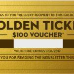 Sony belohnt ihre Newsletter Abonnenten mit Gold Tickets