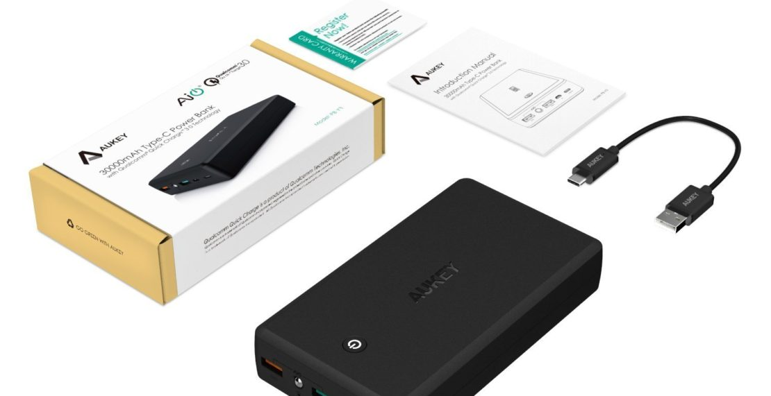 Lieferumfang Aukey Power Bank 30000mAh