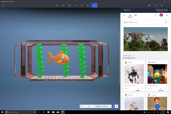 Windows 10 Creators Update - Paint 3D App