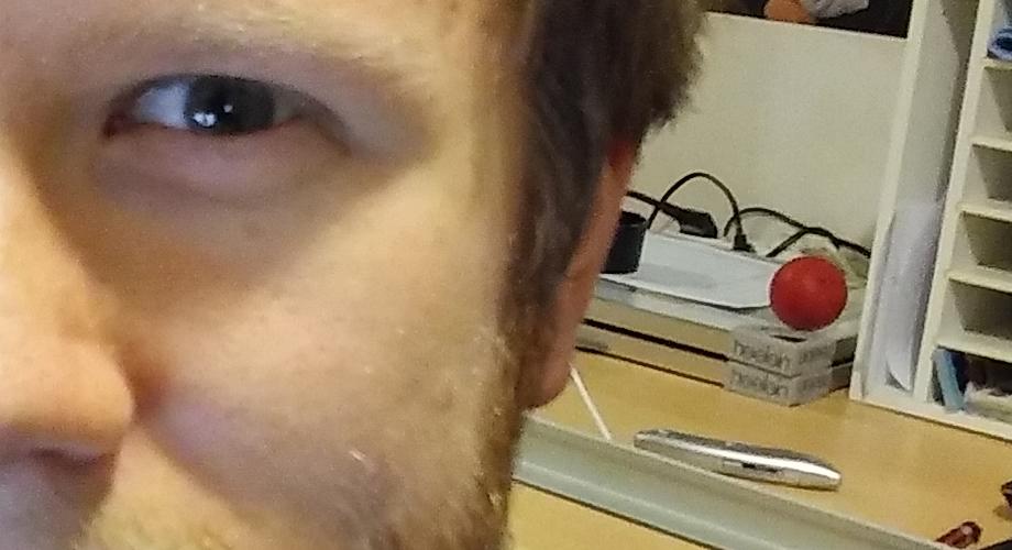 LG XScreen Selfie 100% Ausschnitt