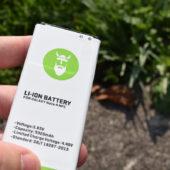 Leistungsstarke Smartphone Ersatz-Akkus