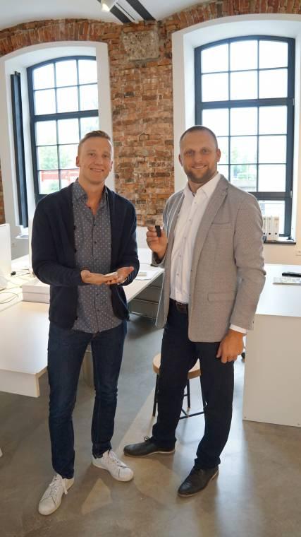 Die Erfinder vom 8sense Clip: Christoph Tischner und Ralf Seeland