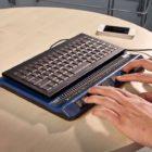 eine Braillezeile für eine PC-Tastatur