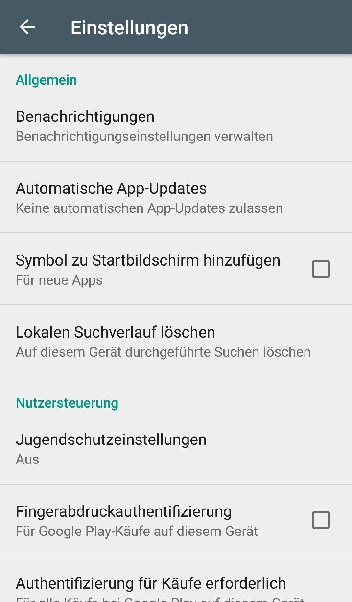 Automatische App Updates Google Play Store