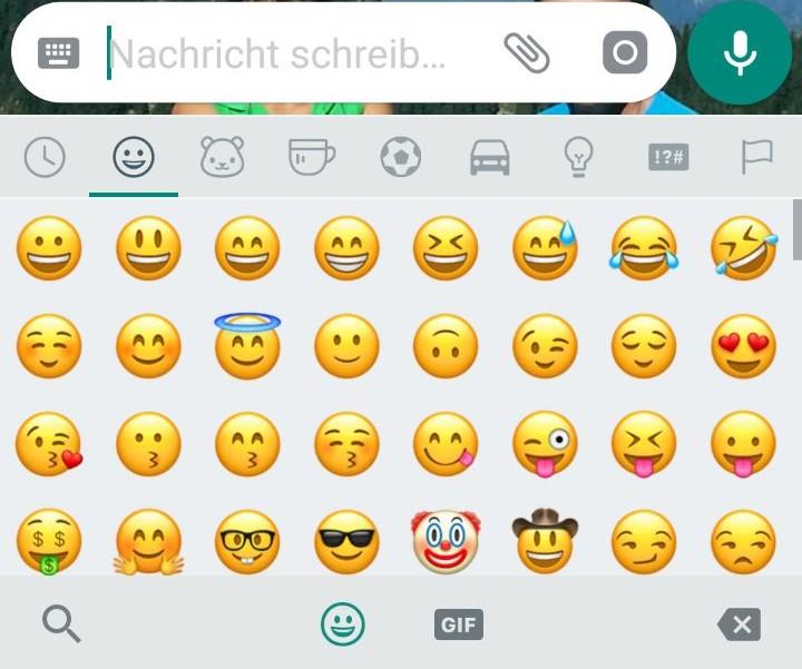 Whatsapp smileys zum einfügen
