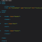 HTML Grundkurs für Anfänger – Editor und CSS einbinden #02