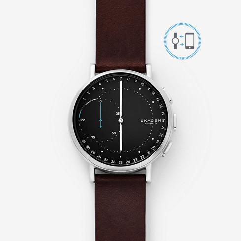 Smartwatch mit physischem Ziffernblatt - die Skagen Hagen Connected