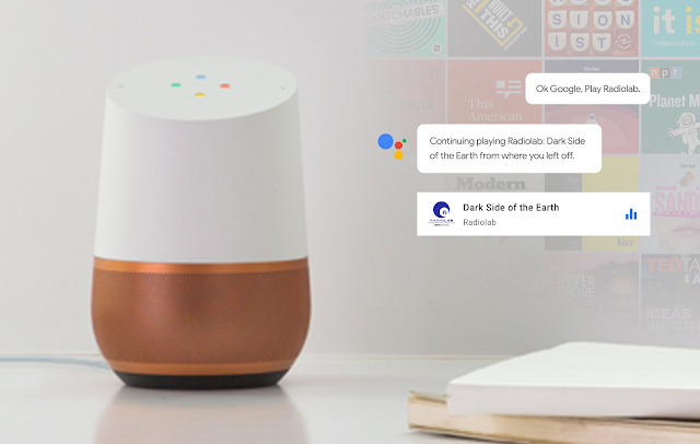 Podcasts auf dem Google Home