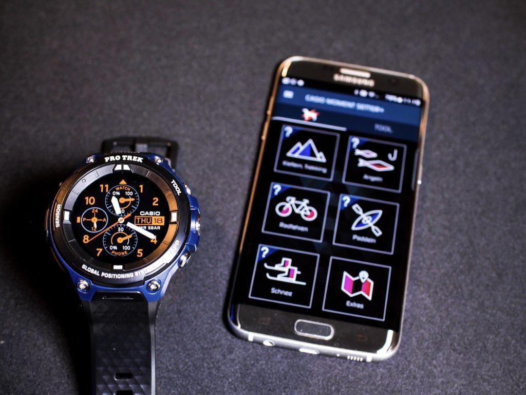 Die Einrichtung der Casio Moment-Setter App ist einfach und sinnvoll