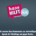 hasshilft.de: Für jeden rechtsorientierten Hasskommentar im Web wird 1 Euro gespendet