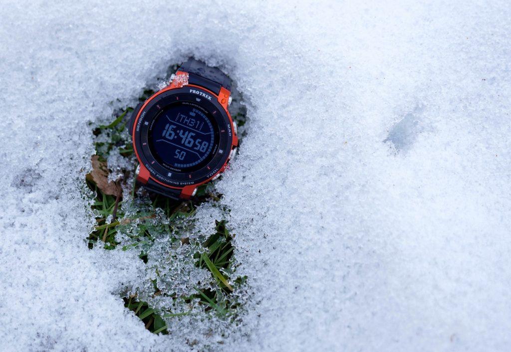 Die Uhr ist der perfekte Begleiter für alles was draußen stattfindet.