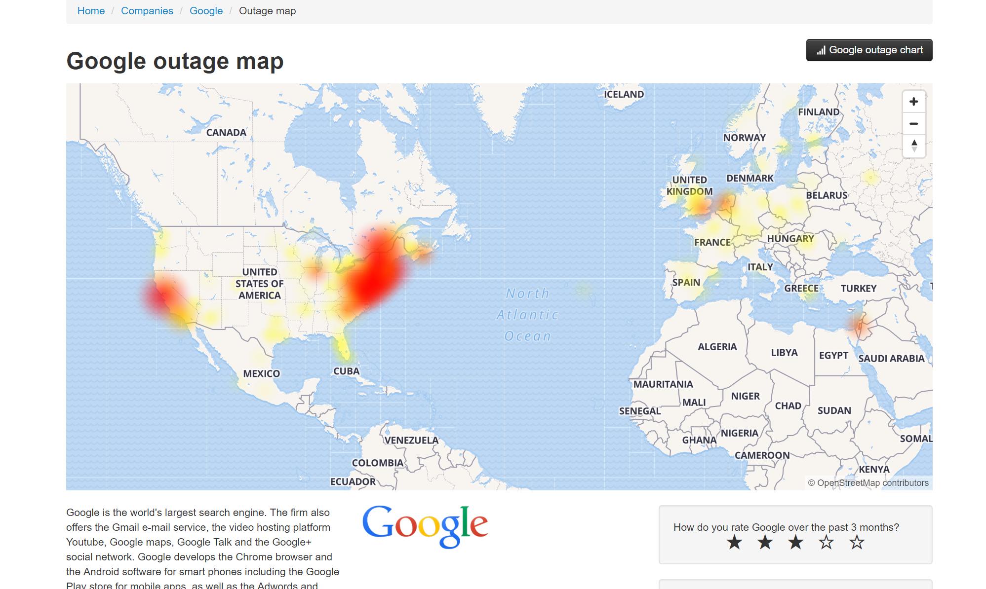 Google Probleme Heute