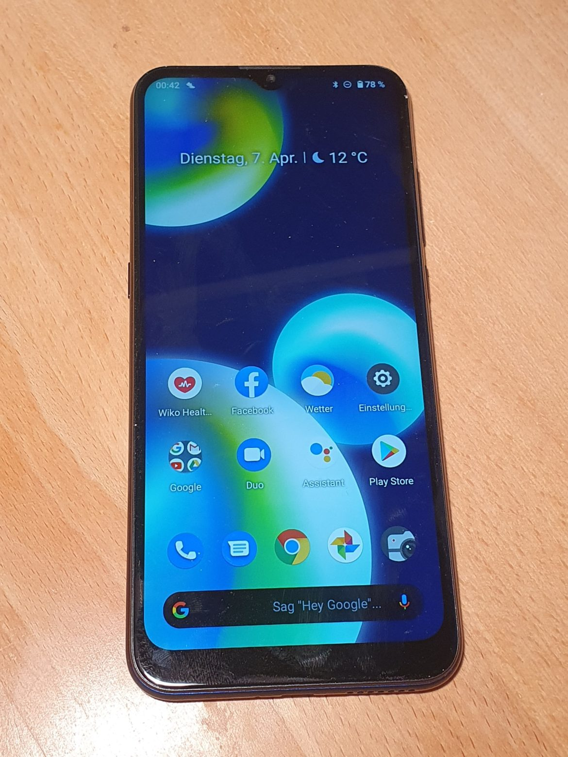 wiko view-4 lite front
