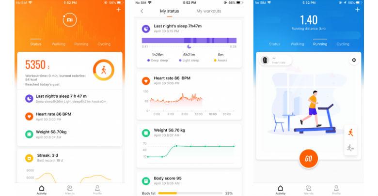 Die hauseigene Mi Fit App ist unverzichtbar und bietet viele Funktionen.